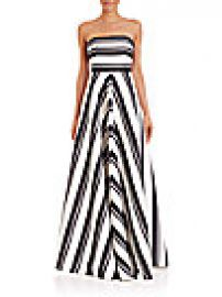 Halston Heritage - Strapless Striped Gown at Saks Fifth Avenue