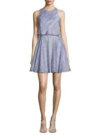 Halston Heritage - Striped Popover Dress at Saks Off 5th