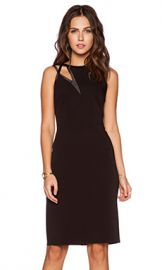 Halston Heritage Asymmetric Cut Out Dress in Black from Revolvecom at Revolve