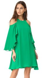 Halston Heritage Cold Shloulder Ruffle Dress at Shopbop