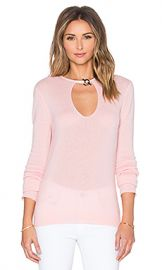 Halston Heritage Keyhole Front Sweater in Lotus at Revolve