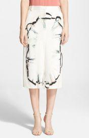 Halston Heritage Silk Midi Skirt at Nordstrom