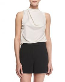 Halston Heritage Sleeveless Cowl-Back Top at Neiman Marcus