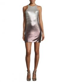 Halston Heritage Sleeveless Sequined Fitted Cocktail Dress at Neiman Marcus