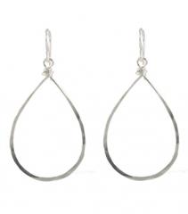 Hammered Hoop Earrings at Peggy Li