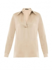 Hammered silk shirt by Gucci at Matches