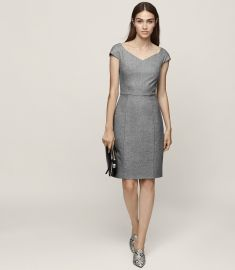 Hampstead wide neck tailored dress at Reiss