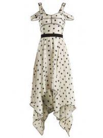 Handkerchief-hem star-print satin dress at Matches