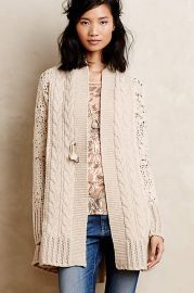 Handknit Star-Stitch Cardigan by Angel of North at Anthropologie