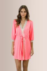 Hannah Cuff Robe at Eberjey