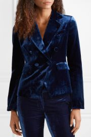 Hannah double-breasted velvet blazer at Net A Porter