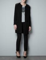 Hanna's black tweed studded coat at Zara