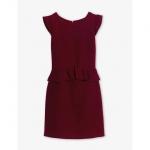 Hanna's burgundy peplum dress by Sandro at Sandro