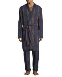 Hanro Striped Woven Robe   Neiman Marcus at Neiman Marcus