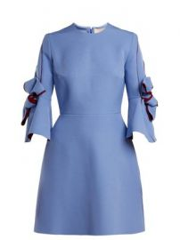 Harlin bow-sleeve bonded crepe mini dress at Matches