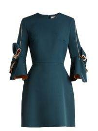 Harlin bow-sleeved bonded-crepe dress at Matches