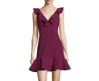 Harlow Ruffle Mini Dress  Likely at Saks Off 5th