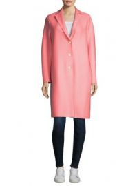Harris Wharf London - Wool Button-Front Coat at Saks Fifth Avenue