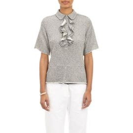 Harvey Faircloth Ruffle-Front Sweatshirt Top at Barneys