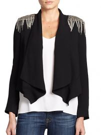 Haute Hippie - Chain Fringe-Trim Silk Blazer at Saks Fifth Avenue