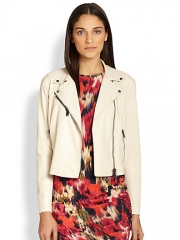 Haute Hippie - Cropped Leather Moto Jacket at Saks Fifth Avenue