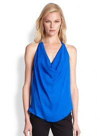 Haute Hippie - Open Back Hi-Lo Silk Blouse at Saks Fifth Avenue