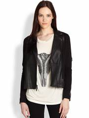 Haute Hippie - Ponte Leather Moto Jacket at Saks Fifth Avenue