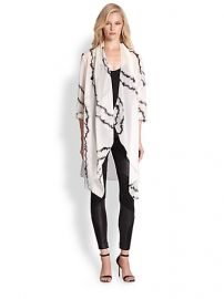 Haute Hippie - Printed Silk Chiffon Cardigan at Saks Fifth Avenue