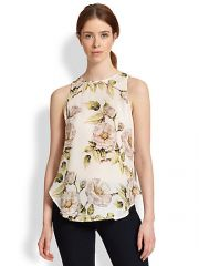 Haute Hippie - Silk Draped Cutout-Back Floral-Print Tank at Saks Fifth Avenue