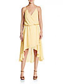 Haute Hippie - Silk Wrap-Effect Halter Dress at Saks Off 5th