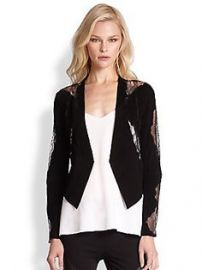 Haute Hippie - Suede Lace-Detail Blazer at Saks Fifth Avenue
