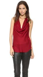 Haute Hippie Cowl Halter Tank at Shopbop