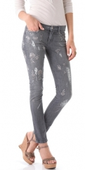 Haute Hippie Embroidered Skinny Jeans at Shopbop
