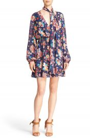 Haute Hippie Floral Print Silk Minidress at Nordstrom