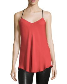 Haute Hippie Leather Strap Camisole at Neiman Marcus