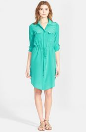 Haute Hippie Long Sleeve Silk Shirtdress at Nordstrom