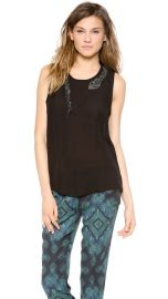 Haute Hippie Muscle Tank with Beaded Snake at Shopbop
