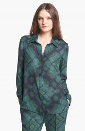 Haute Hippie Print Silk Blouse at Nordstrom