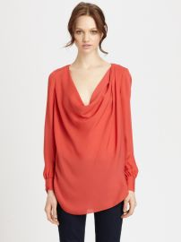 Haute Hippie Silk Cowl Neck Blouse at Saks Fifth Avenue
