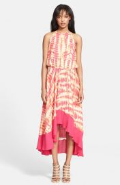 Haute Hippie and39Lexiand39 Print Silk HighLow Dress at Nordstrom