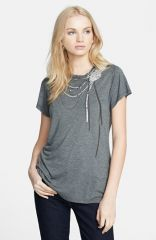 Haute Hippie and39Snakeand39 Embellished Crewneck Tee at Nordstrom