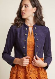 Haute Hustle Faux-Suede Cropped Jacket at ModCloth