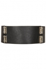 Hayleys wide black belt at Topshop