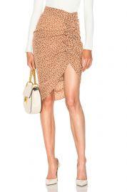 Hazel Side Ruched Ruffle Skirt at Forward