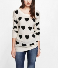 Heart Jacquard Sweater at Express