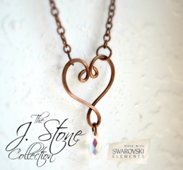 Heart Necklace at Etsy