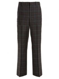 Heart fil coup   checked wool-blend trousers at Matches