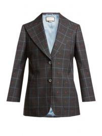 Heart-jacquard peak-lapel wool-blend blazer at Matches
