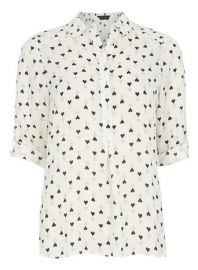 Heart print shirt at Dorothy Perkins