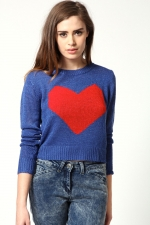Heart pullover from Boohoo at Boohoo